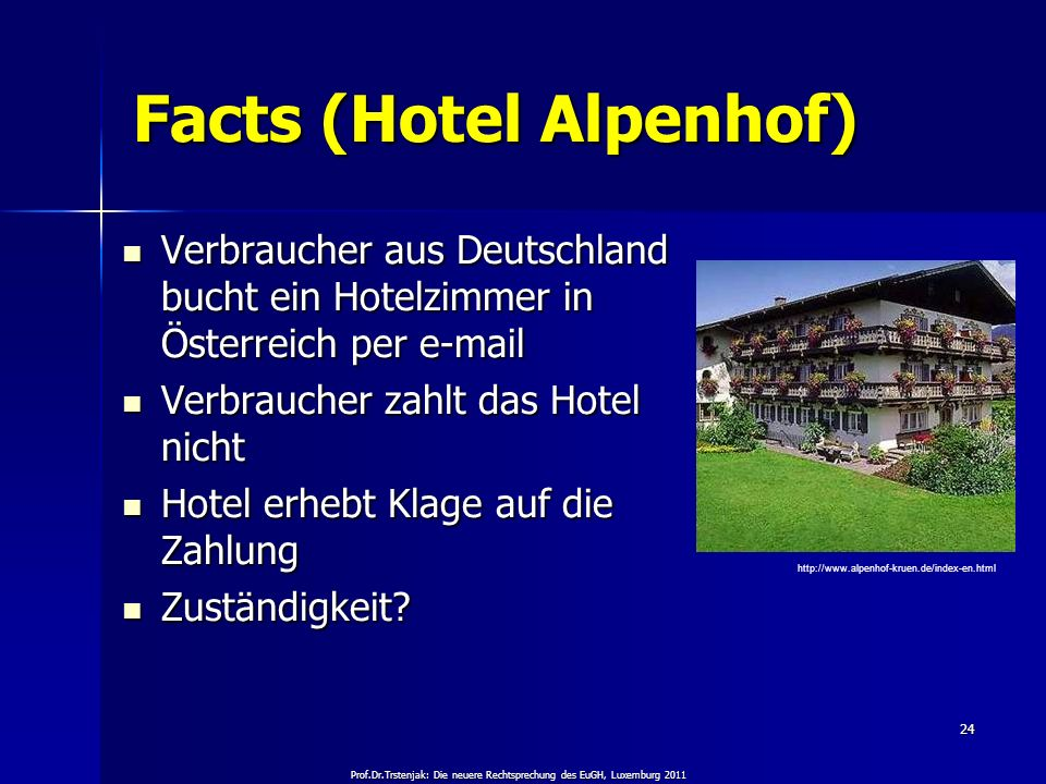 Facts (Hotel Alpenhof)