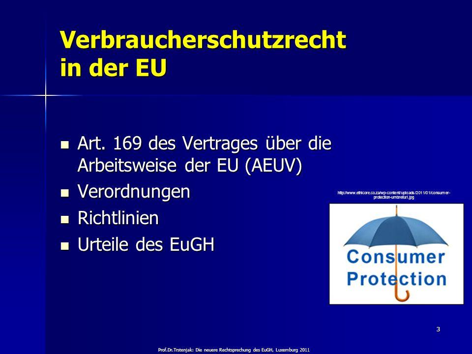Verbraucherschutzrecht in der EU