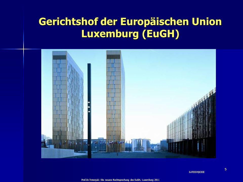 Gerichtshof der Europäischen Union Luxemburg (EuGH)