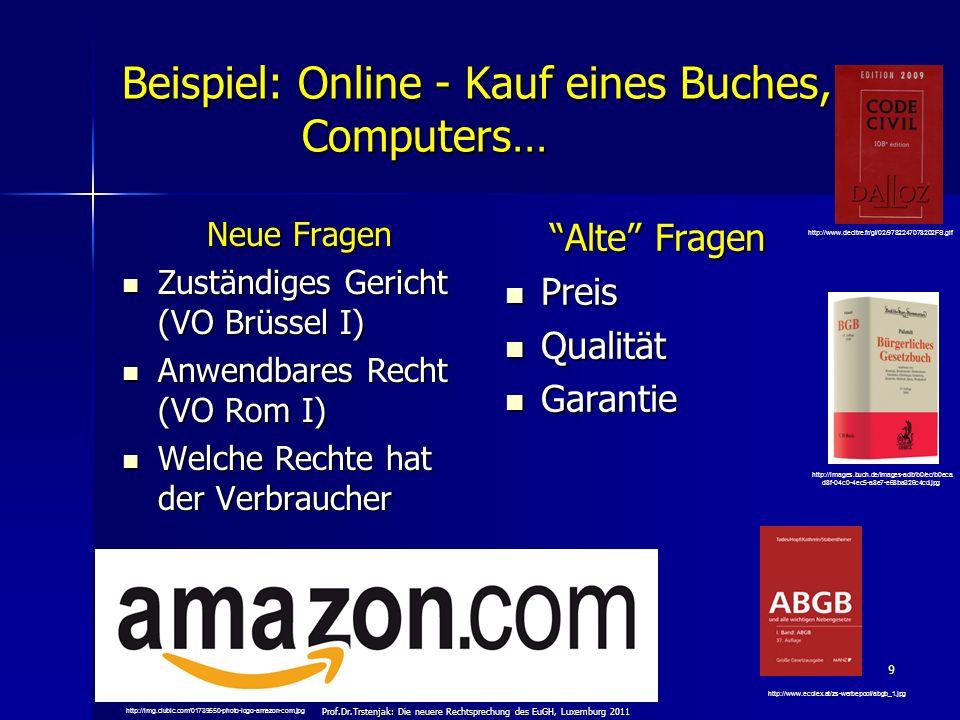 Beispiel: Online - Kauf eines Buches, Computers…