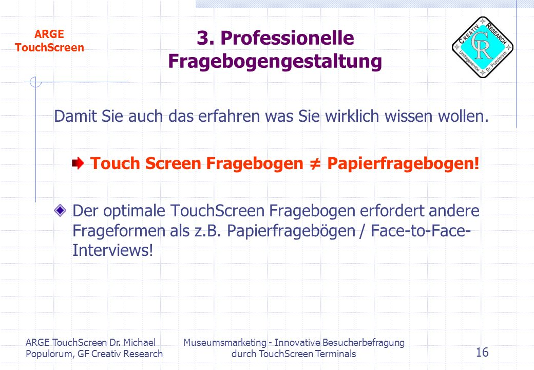3. Professionelle Fragebogengestaltung