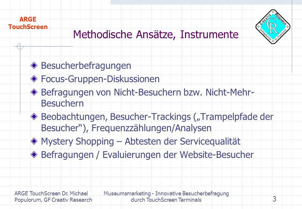 Methodische Ansätze, Instrumente