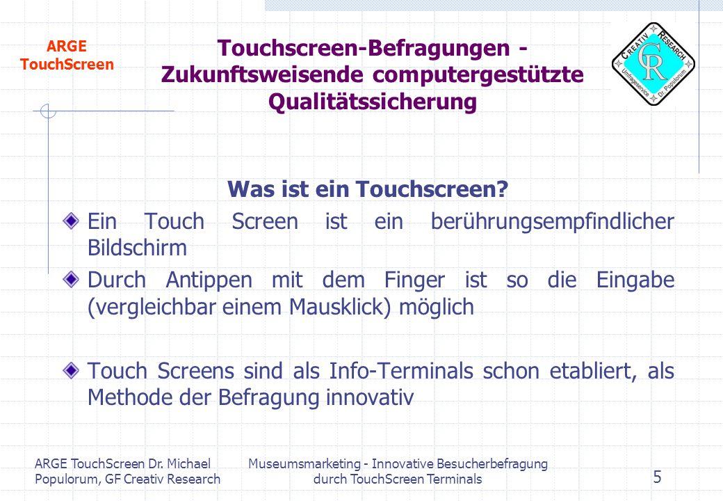 Was ist ein Touchscreen
