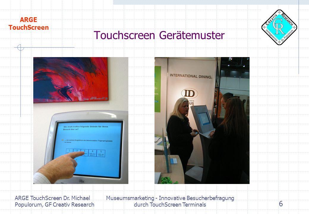 Touchscreen Gerätemuster