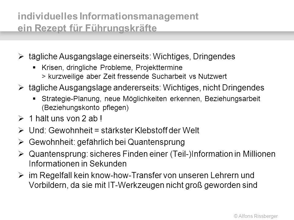 individuelles Informationsmanagement ein Rezept für Führungskräfte