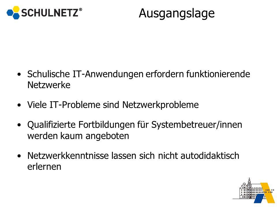 Ausgangslage Schulische IT-Anwendungen erfordern funktionierende Netzwerke. Viele IT-Probleme sind Netzwerkprobleme.