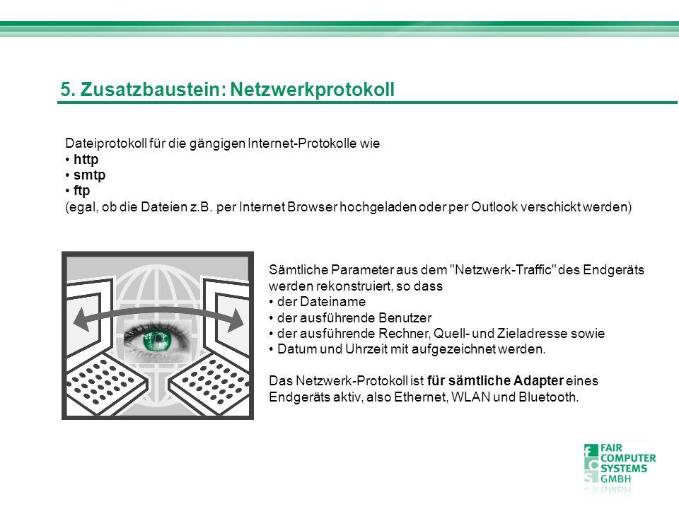 5. Zusatzbaustein: Netzwerkprotokoll
