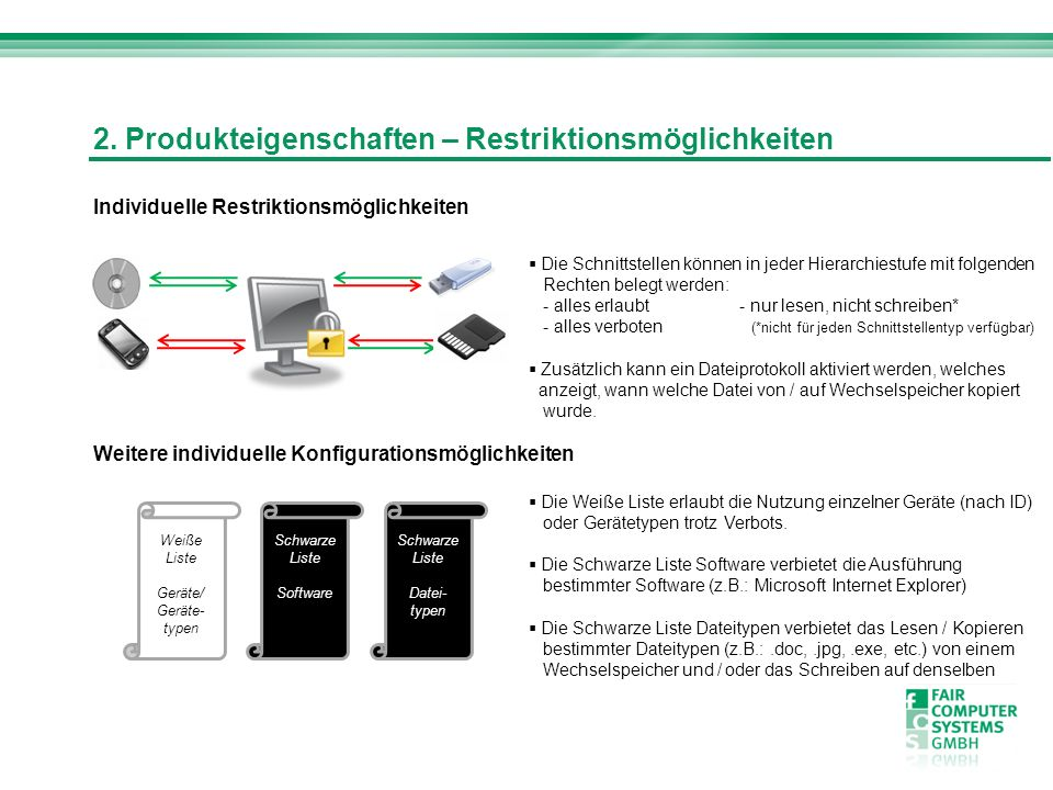2. Produkteigenschaften – Restriktionsmöglichkeiten