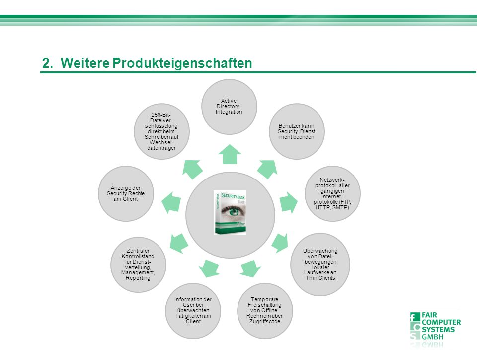 2. Weitere Produkteigenschaften