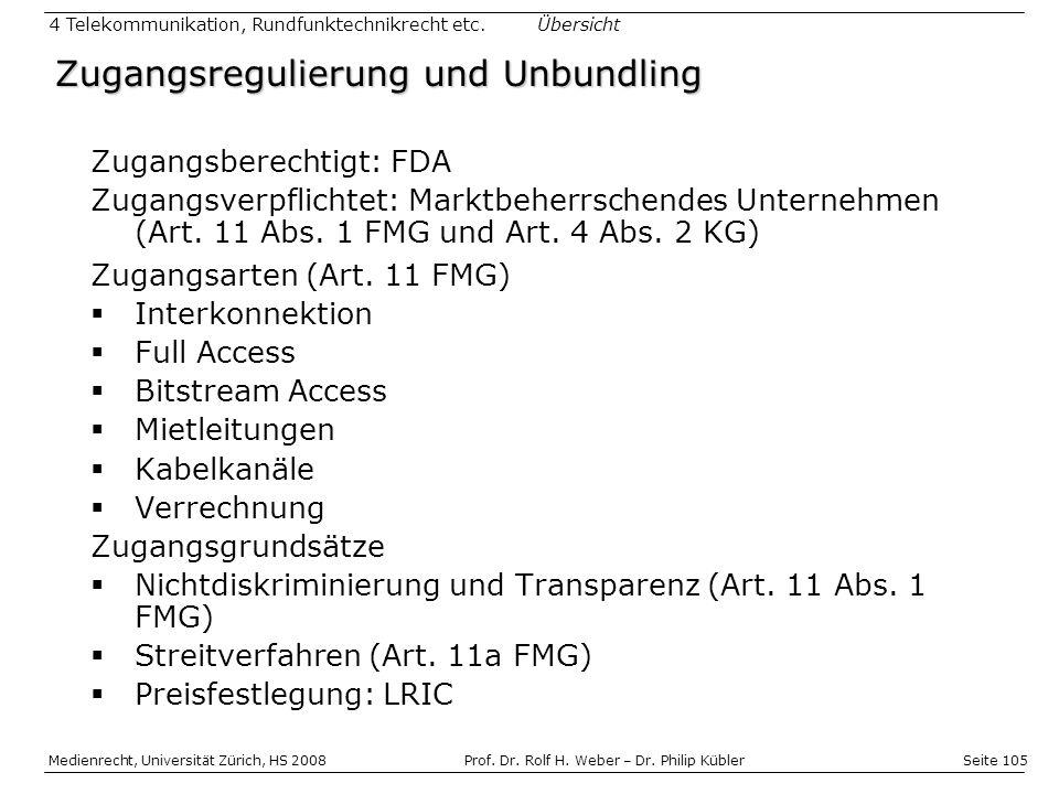 Zugangsregulierung und Unbundling