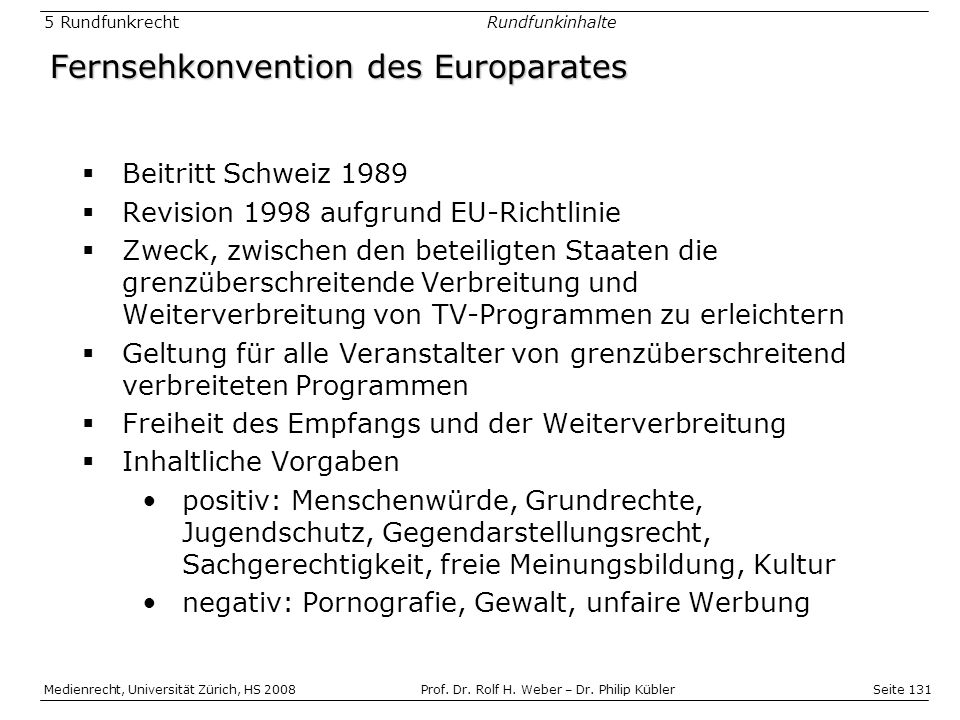 Fernsehkonvention des Europarates
