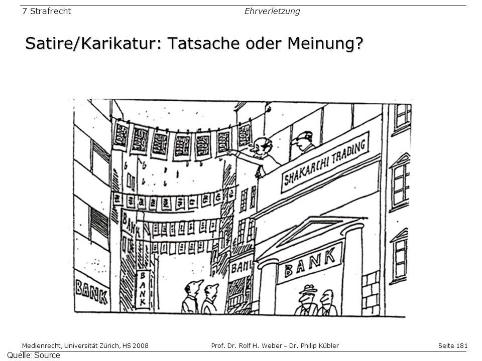 Satire/Karikatur: Tatsache oder Meinung