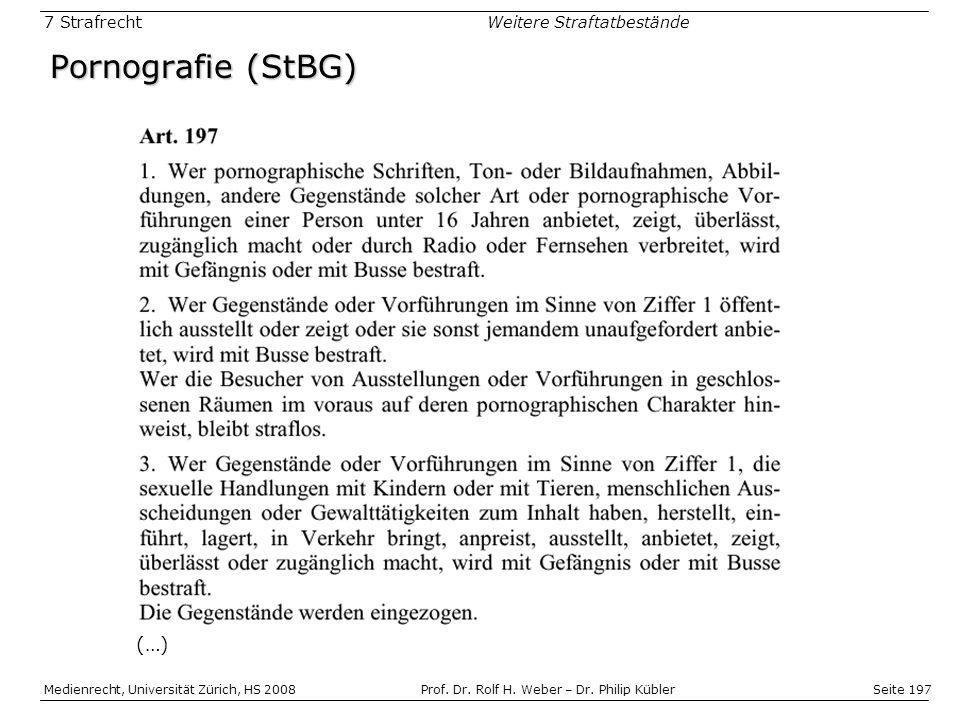 Pornografie (StBG) (…)