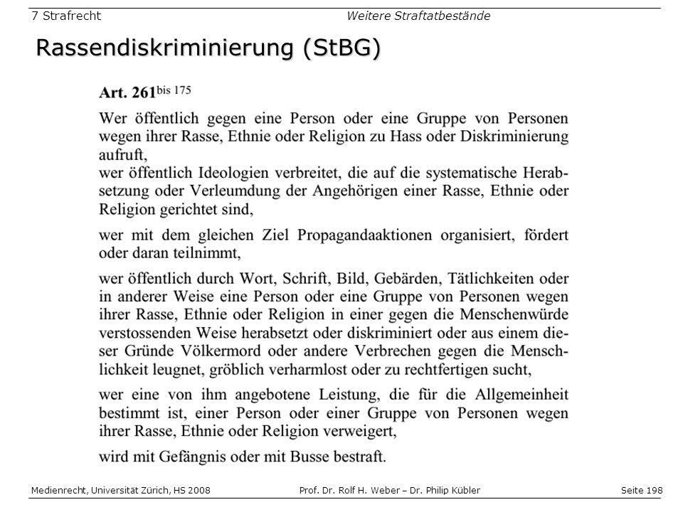 Rassendiskriminierung (StBG)