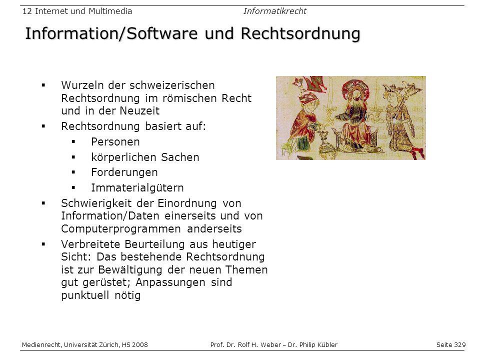 Information/Software und Rechtsordnung
