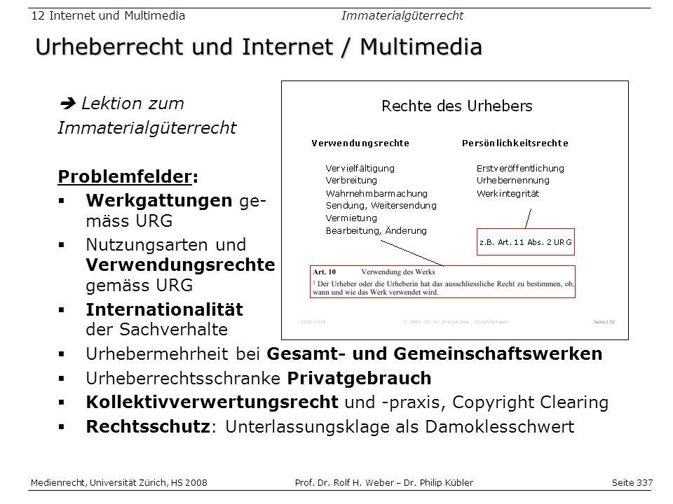Urheberrecht und Internet / Multimedia