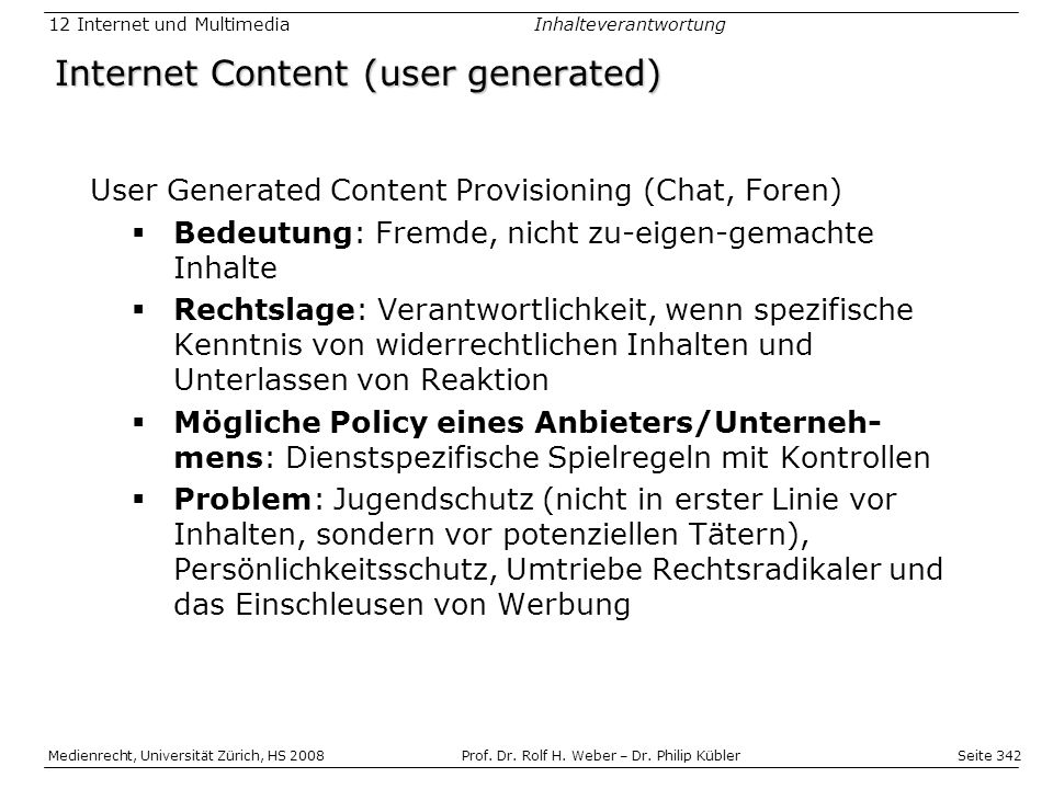 Internet Content (user generated)