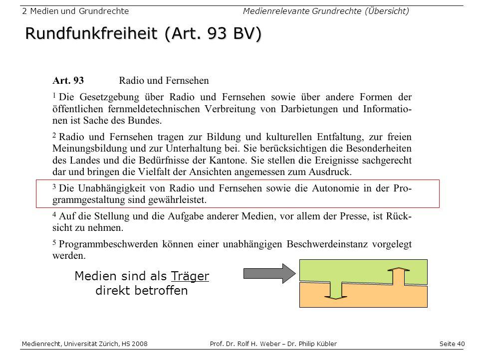 Rundfunkfreiheit (Art. 93 BV)