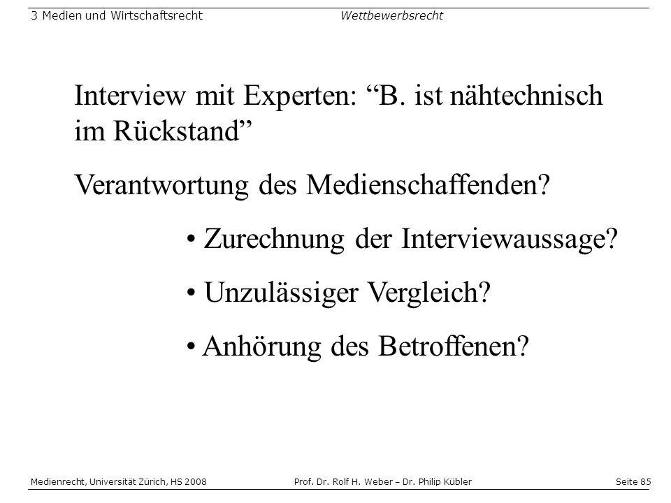 Interview mit Experten: B. ist nähtechnisch im Rückstand