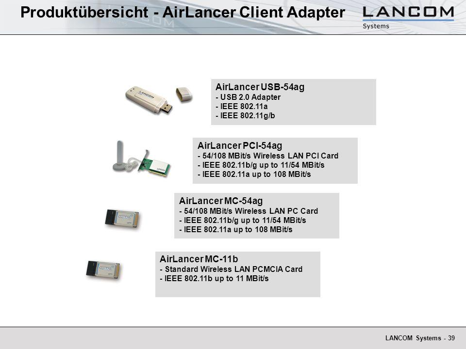 Produktübersicht - AirLancer Client Adapter