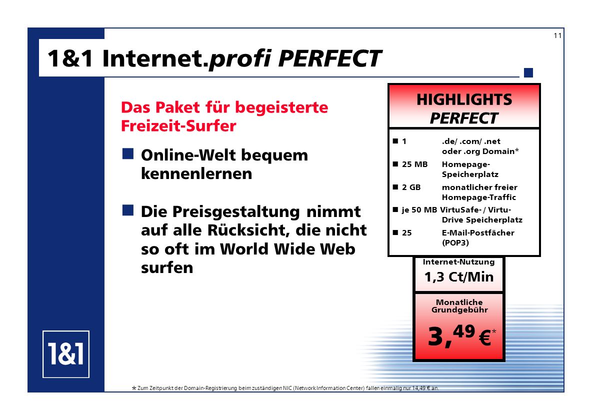 1&1 Internet.profi PERFECT