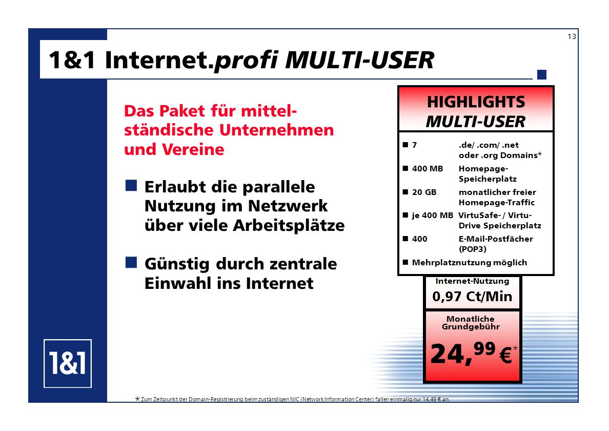 1&1 Internet.profi MULTI-USER