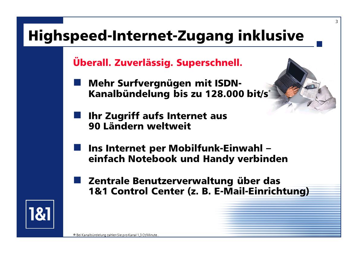 Highspeed-Internet-Zugang inklusive