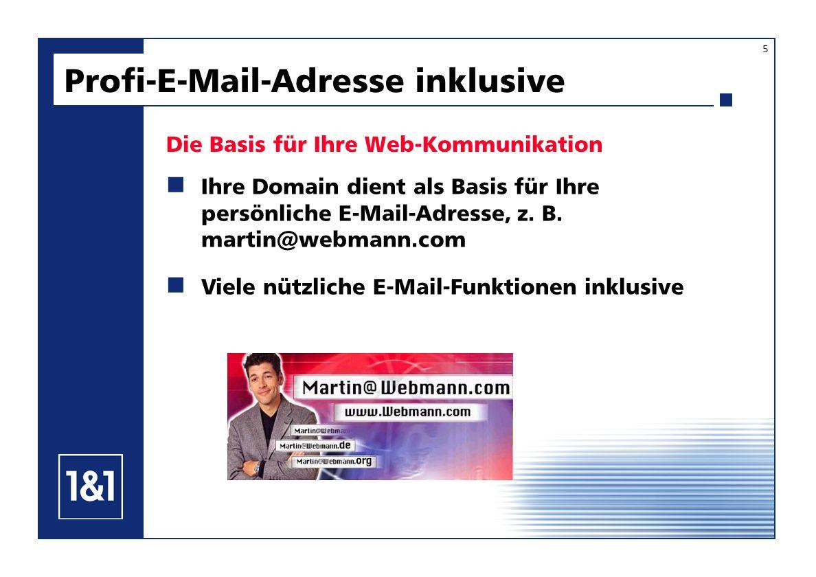 Profi-E-Mail-Adresse inklusive