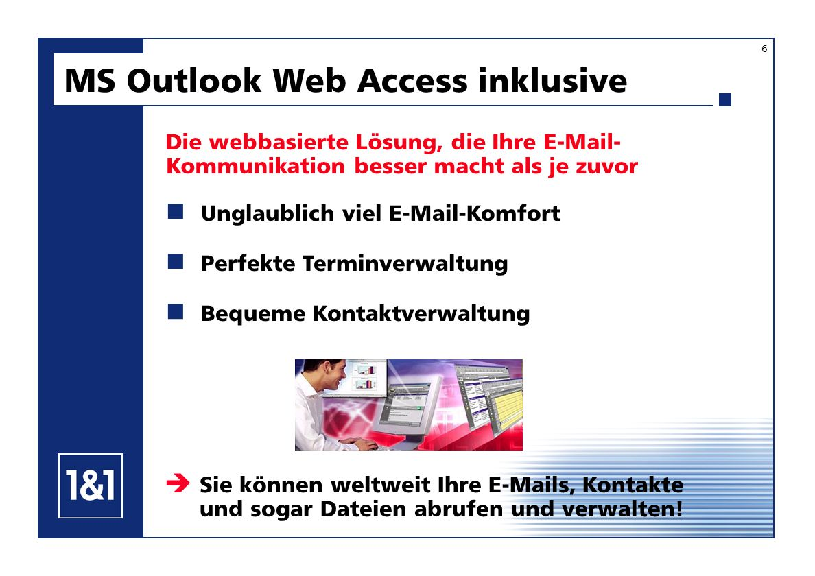 MS Outlook Web Access inklusive