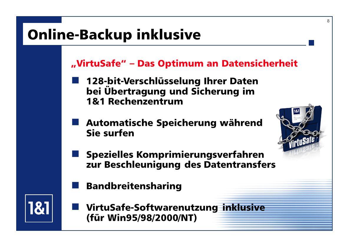Online-Backup inklusive