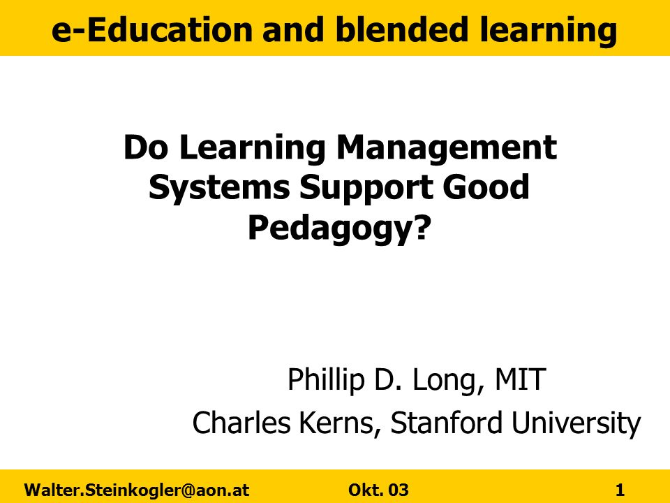 Do Learning Management Systems Support Good Pedagogy