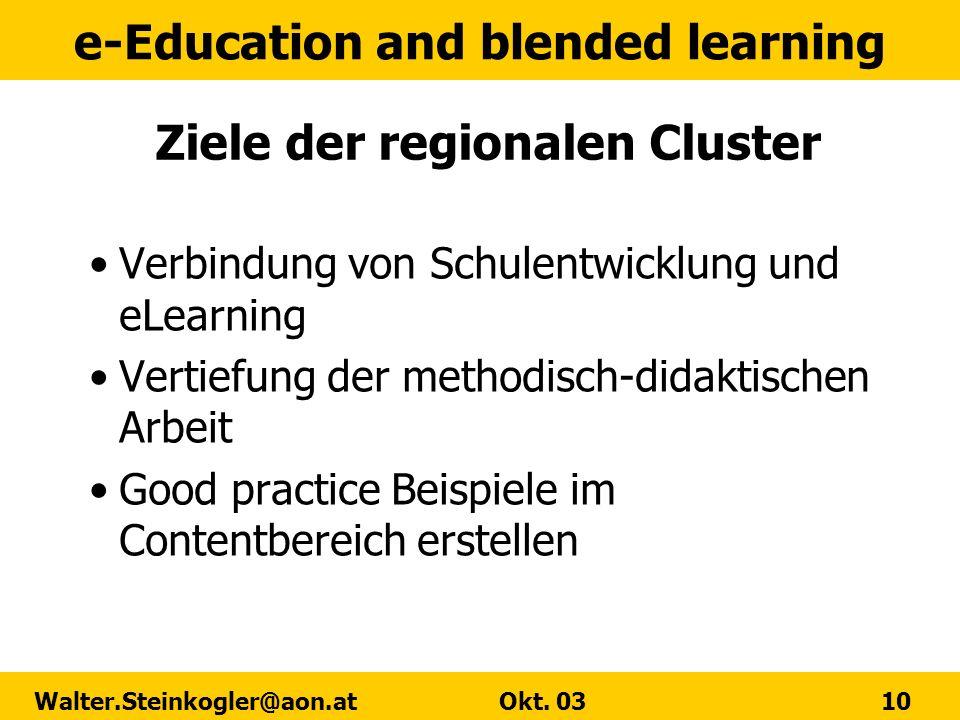 Ziele der regionalen Cluster
