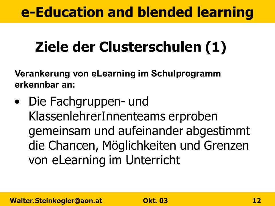 Ziele der Clusterschulen (1)