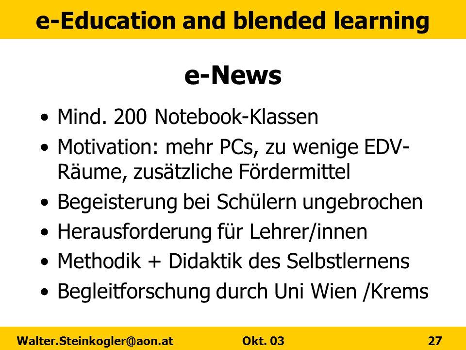 e-News Mind. 200 Notebook-Klassen