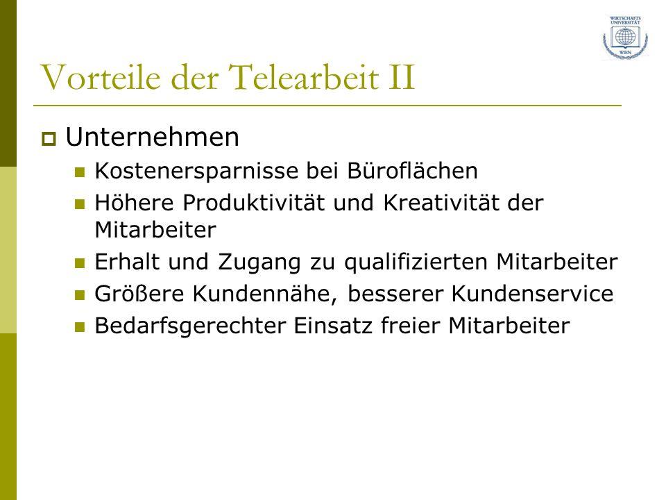 Vorteile der Telearbeit II