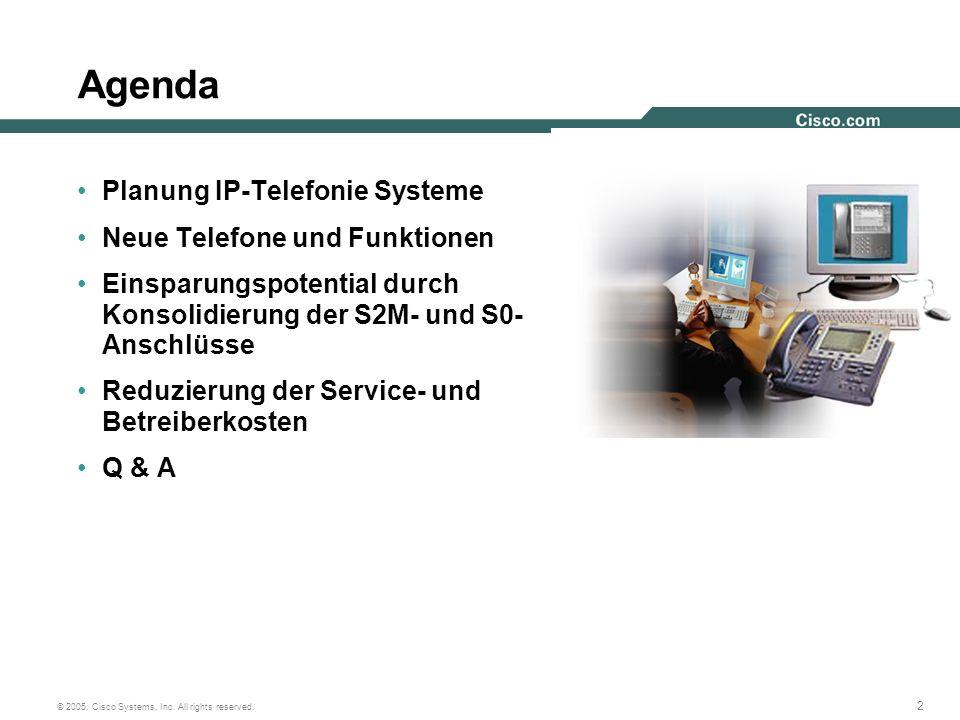 Agenda Planung IP-Telefonie Systeme Neue Telefone und Funktionen
