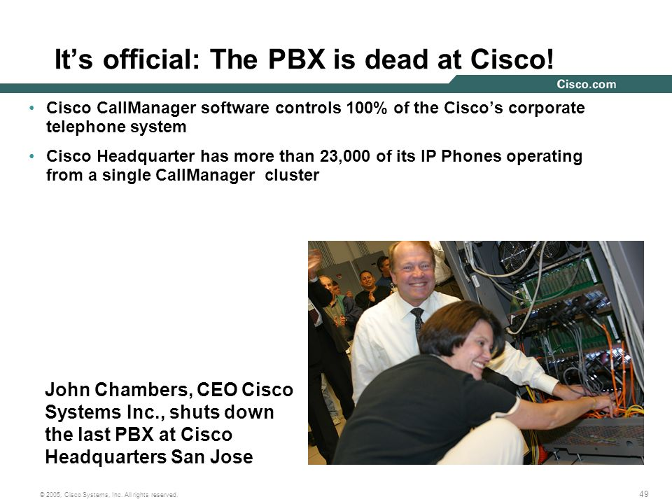 It's official: The PBX is dead at Cisco!