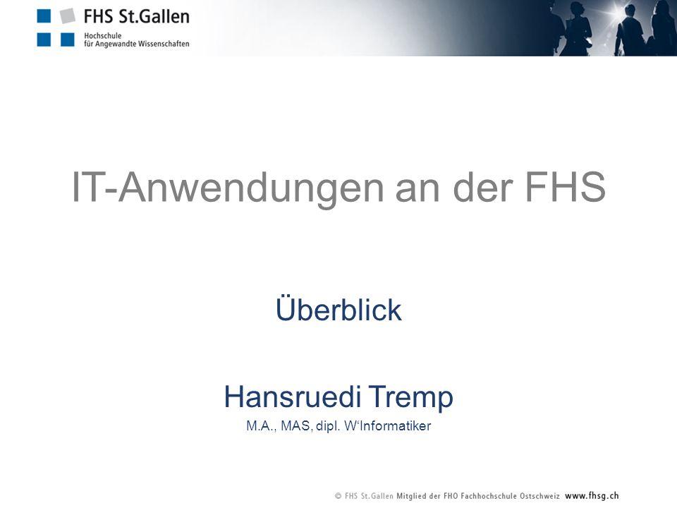 IT-Anwendungen an der FHS