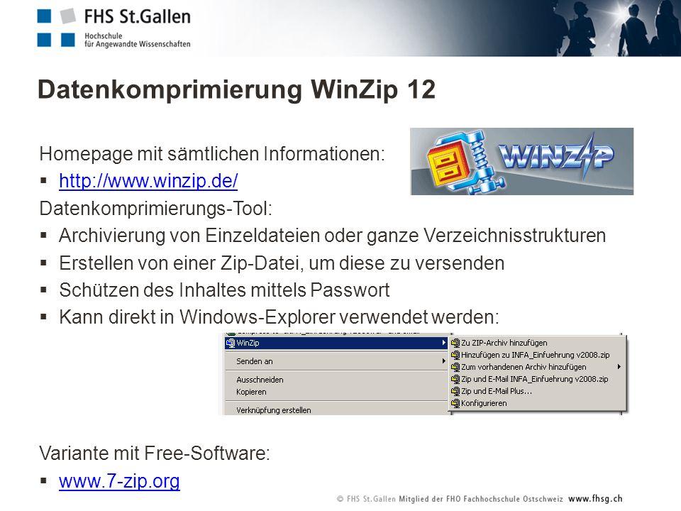 Datenkomprimierung WinZip 12