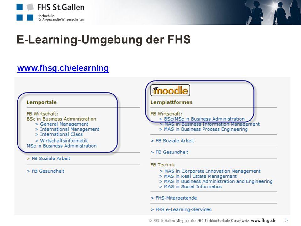 E-Learning-Umgebung der FHS