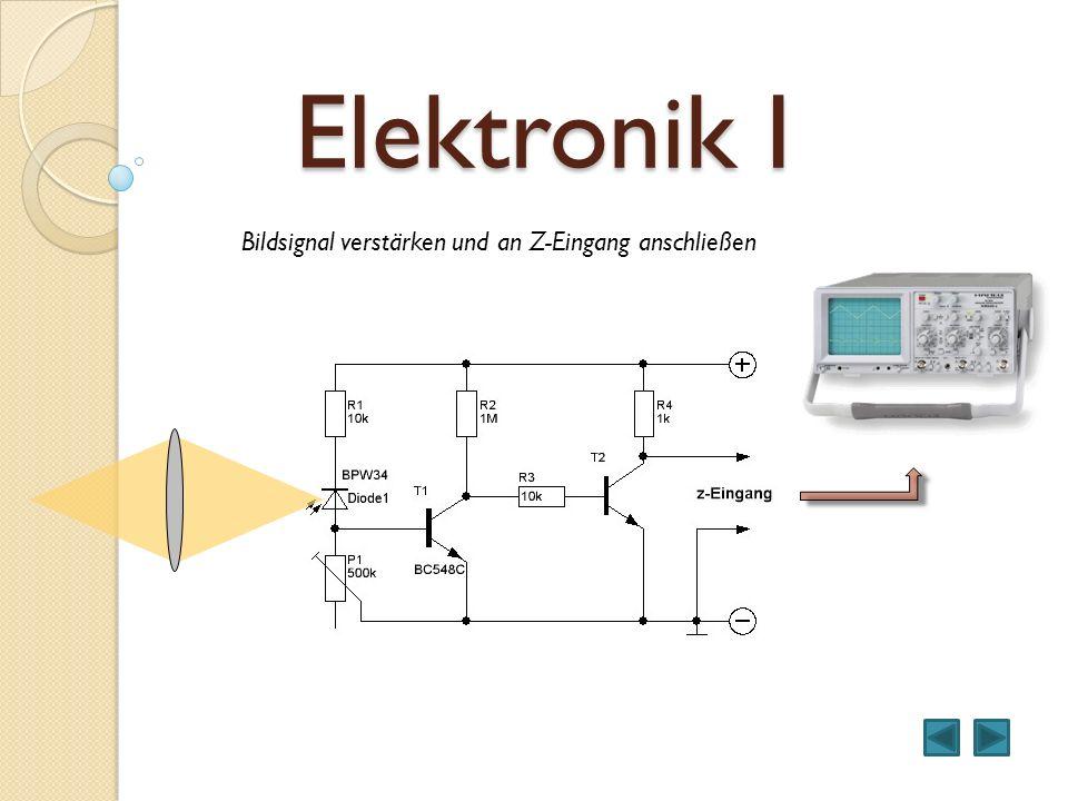 Elektronik I Bildsignal verstärken und an Z-Eingang anschließen