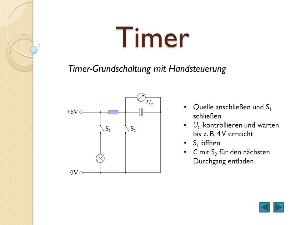 Timer Timer-Grundschaltung mit Handsteuerung