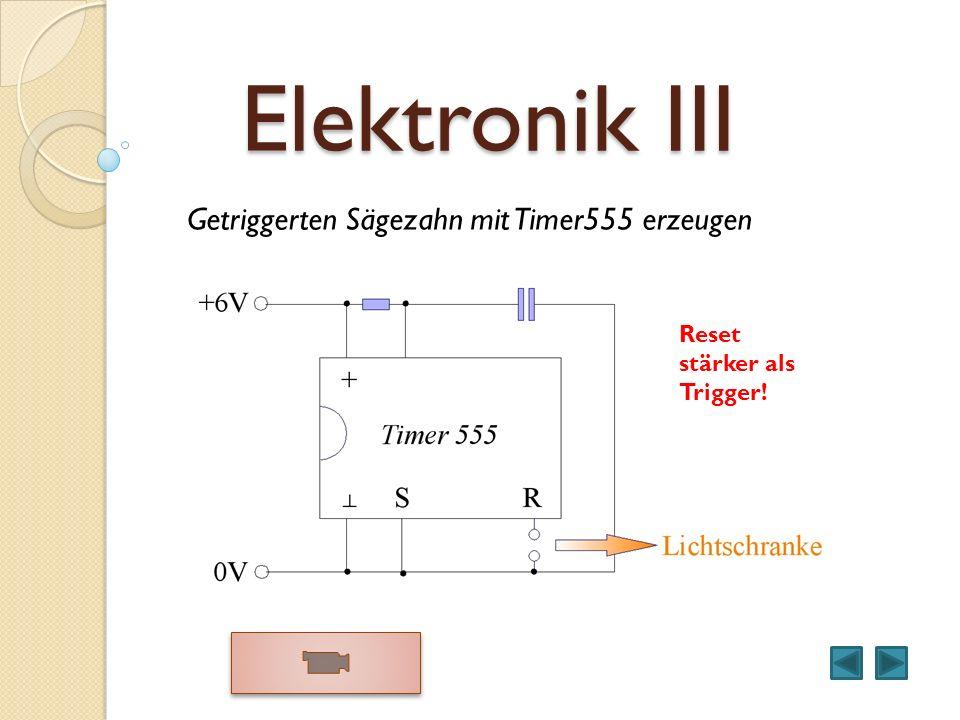 Elektronik III Getriggerten Sägezahn mit Timer555 erzeugen Reset