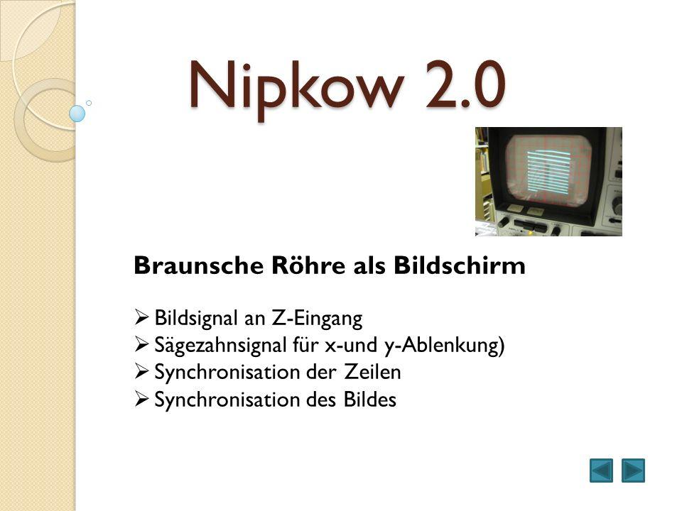 Nipkow 2.0 Braunsche Röhre als Bildschirm Bildsignal an Z-Eingang