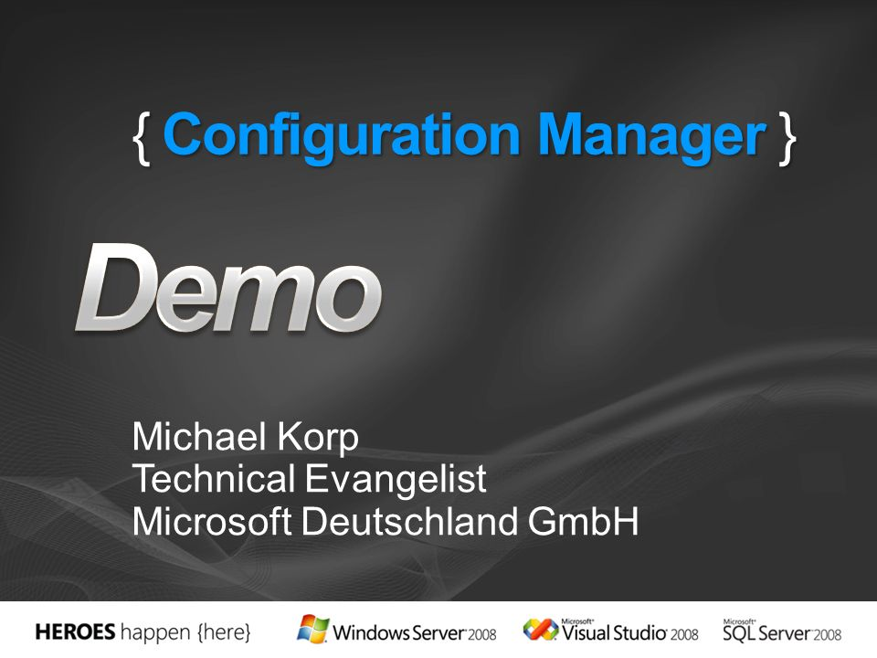 { Configuration Manager }