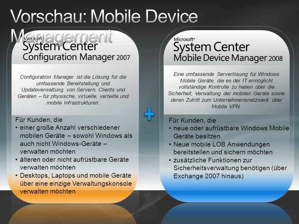Vorschau: Mobile Device Management