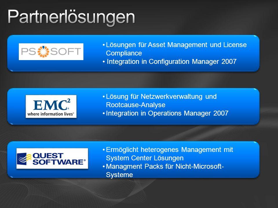 Partnerlösungen Lösungen für Asset Management und License Compliance