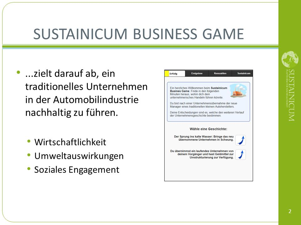Sustainicum Business Game