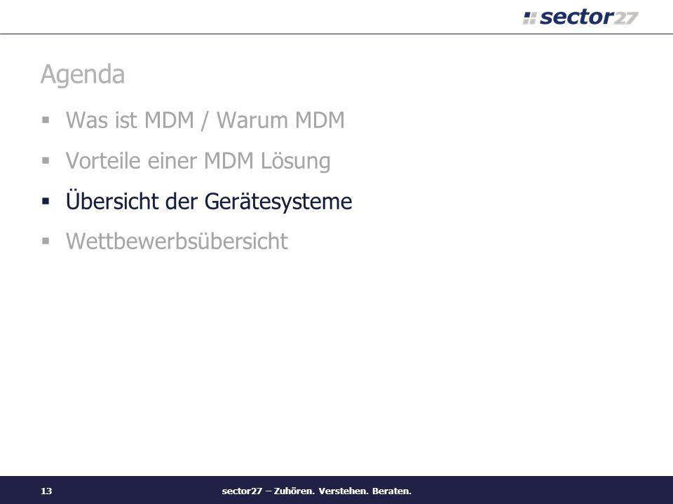 sector27 – Zuhören. Verstehen. Beraten.