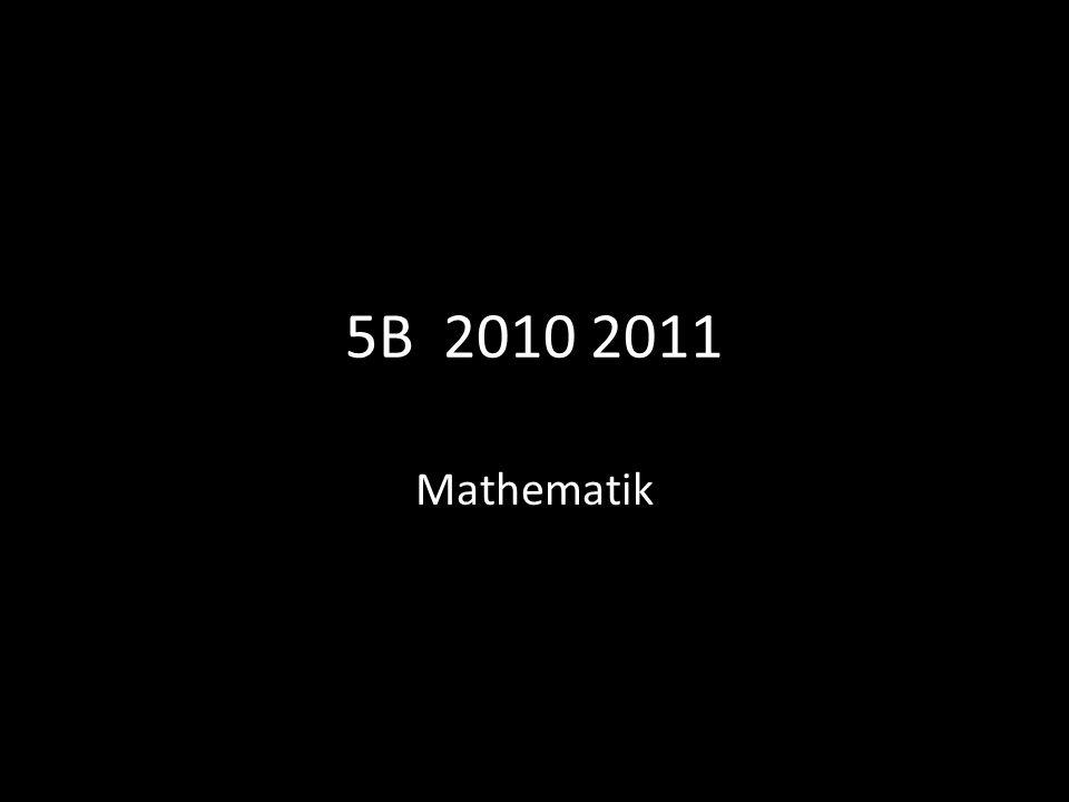 5B 2010 2011 Mathematik